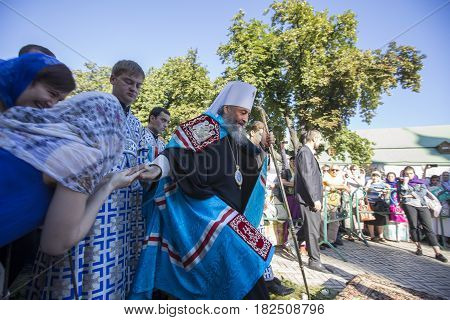 Kiev, Ukraine - 28 August 2016: His Beatitude Metropolitan Of Kiev And All Ukraine Onufriy (berezovs