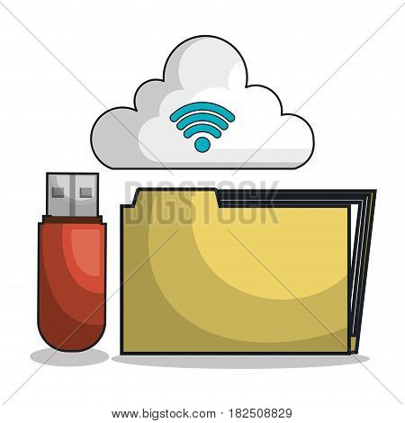 icon folder files archive isolated vector illustration eps 10
