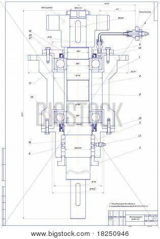 Bearing support. Vector illustration