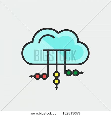 Cloud icon isolated on white background .