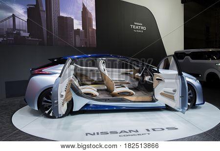 Nagoya Motor Show 2015 In Nagoya, Nissan Ids Concept, Side View
