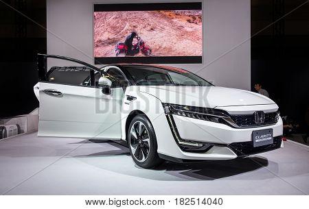 Honda Clarity Fuel Cell Car Presented On Nagoya Motor Show 2015 In Nagoya, Japan