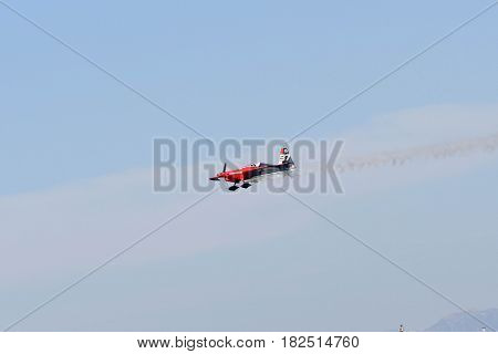 Peter Podlunsek Of Slovenia Performs During Red Bull Air Race