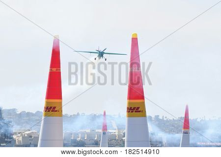 Yoshihide Muroya Of Japan Performs During Red Bull Air Race