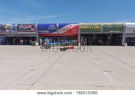 Air Race Hangar On Display