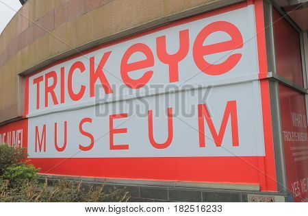 HONG KONG - NOVEMBER 11, 2016: Trickeye museum Victoria Peak. Trickeye museum is a popular tourist attraction located at Victoria Peak.