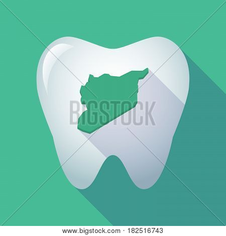 Long Shadow Tooth With  The Map Of Syria
