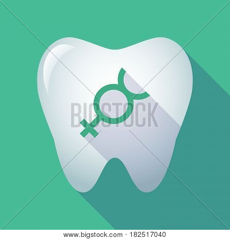 Long Shadow Tooth With  The Mercury Planet Symbol