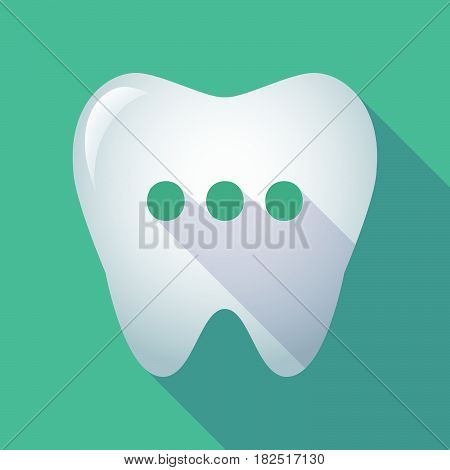 Long Shadow Tooth With  An Ellipsis Orthographic Sign