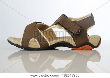 Men's Sandal Footwear on White Background on white background