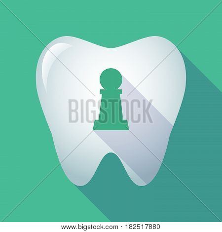 Long Shadow Tooth With A  Pawn Chess Figure