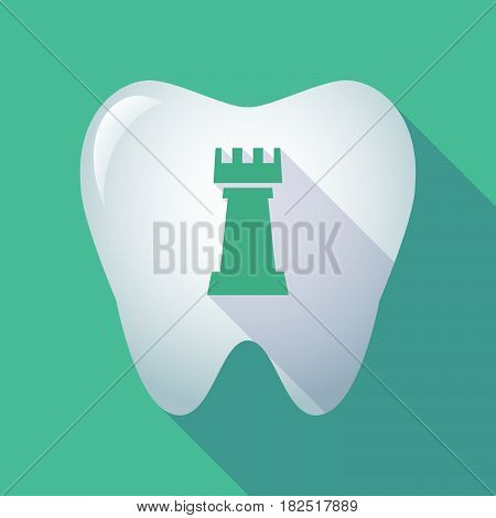 Long Shadow Tooth With A  Rook   Chess Figure