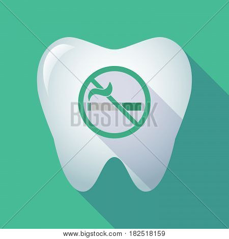 Long Shadow Tooth With  A No Smoking Sign