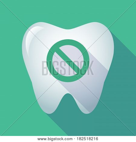 Long Shadow Tooth With  A Forbidden Sign