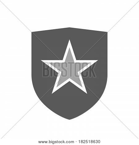 Isolated Shield With  The Red Star Of Communism Icon