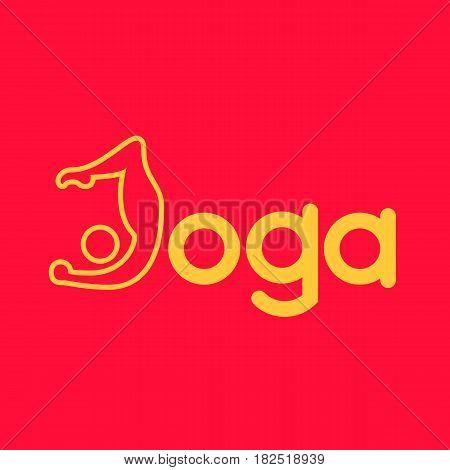 Yoga logo - design template. Health Care, Beauty, Spa, Relax, Meditation Nirvana concept icon