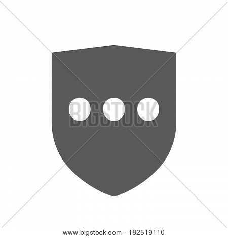 Isolated Shield With  An Ellipsis Orthographic Sign