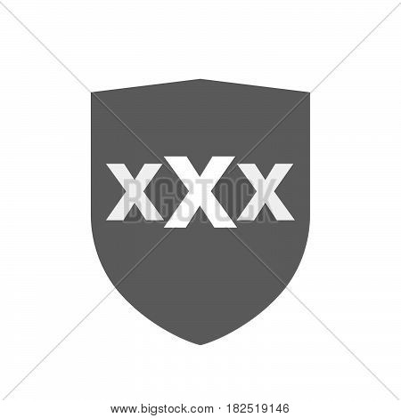 Isolated Shield With  A Xxx Letter Icon