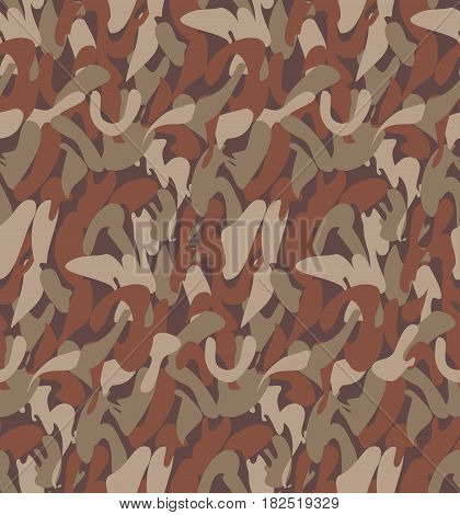 Abstract Military Camouflage Background Made of Splash. Seamless Camo Pattern for Army Clothing.