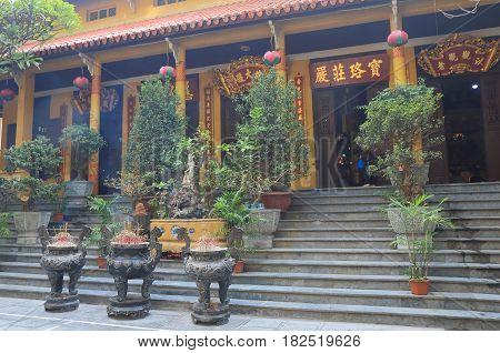 Quan Su Temple in Hanoi Vietnam. Quan Su Temple was built in the 15th century under the Le Dynasty