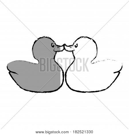 plastic little ducky toy vector illustration design