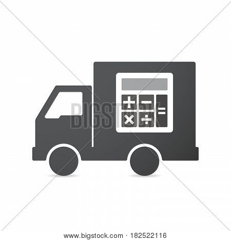 Isolated Truck With  A Calculator