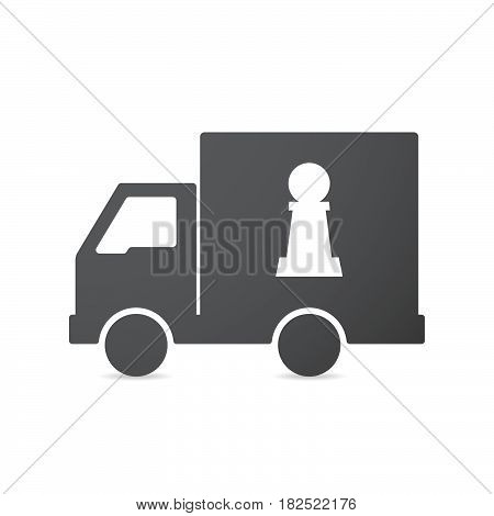Isolated Truck With A  Pawn Chess Figure