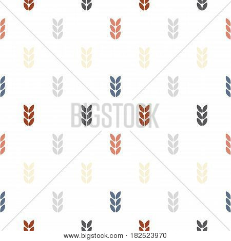 Scandinavian nature abstract leaves retro background. Stock vector.
