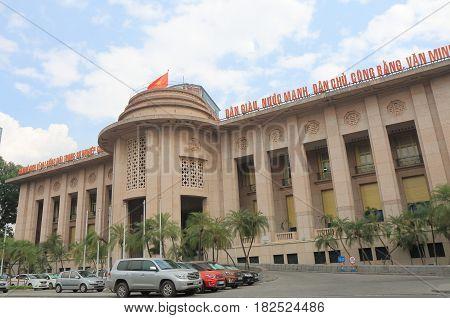 HANOI VIETNAM - NOVEMBER 22, 2016: State bank of Vietnam. State bank of Vietnam is the central bank of Vietnam.