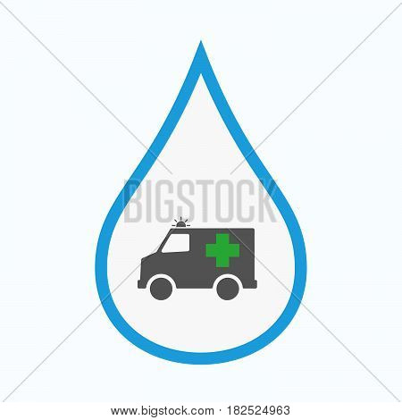 Isolated Water Drop With  An Ambulance Icon