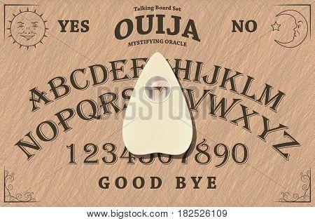 Illustration of a Ouija Talking Board Set
