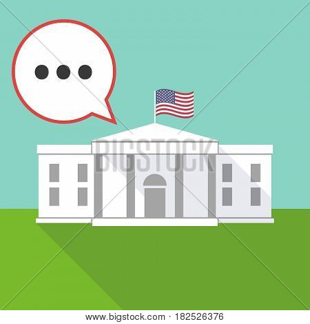 The White House With  An Ellipsis Orthographic Sign