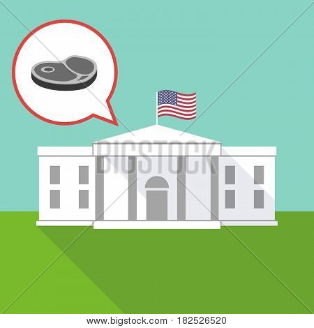 The White House With  A Steak Icon
