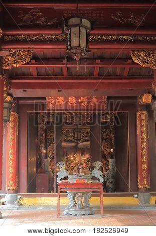 HANOI VIETNAM - NOVEMBER 22, 2016: Bach Ma temple in Old Quarter