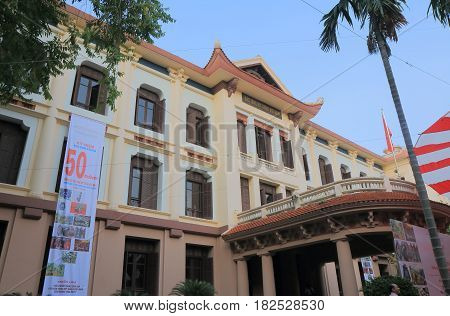 HANOI VIETNAM - NOVEMBER 22, 2016: National Museum of Fine Arts. National Museum of Fine Arts is the countrys primary art museum showcasing Vietnams fine arts from a range of historical periods.