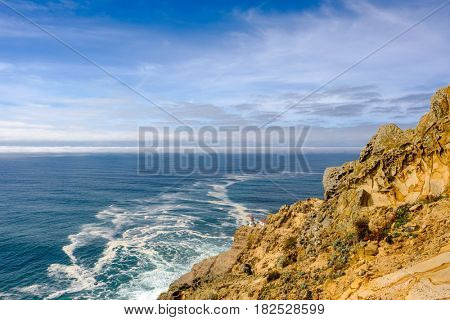 Point Reyes Lighthouse at Pacific coast, built in 1870, California, USA