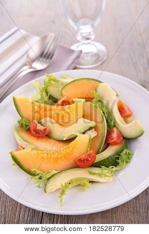 melon and avocado