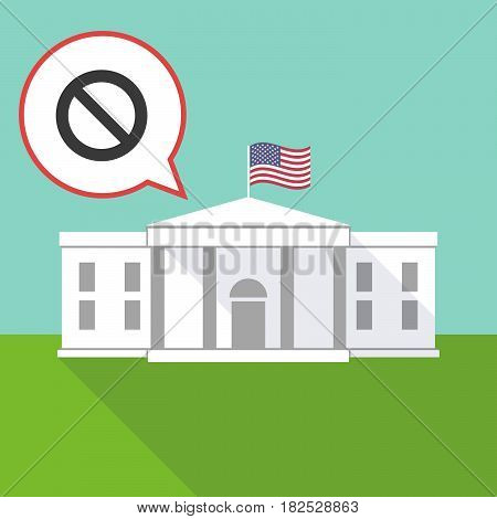 The White House With  A Forbidden Sign