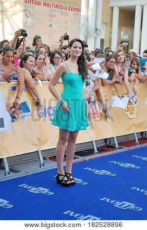 Giffoni Valle Piana Sa Italy - July 19 2014 : Micaela Riera at Giffoni Film Festival 2014 - on July 19 2014 in Giffoni Valle Piana Italy