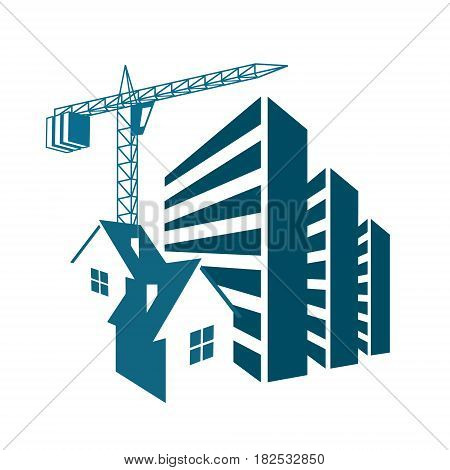 Building and sales of housing symbol for business
