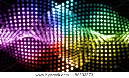 Digital Dot Graph Colorful