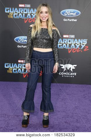 Skyler Shaye at the Los Angeles premiere of 'Guardians Of The Galaxy Vol. 2' held at the Dolby Theatre in Hollywood, USA on April 19, 2017.