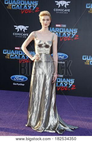 Elizabeth Debicki at the Los Angeles premiere of 'Guardians Of The Galaxy Vol. 2' held at the Dolby Theatre in Hollywood, USA on April 19, 2017.