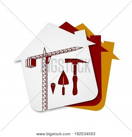 Construction of buildings symbol for Business design