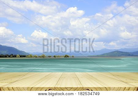 Sunny Day With Blue Sky Background.