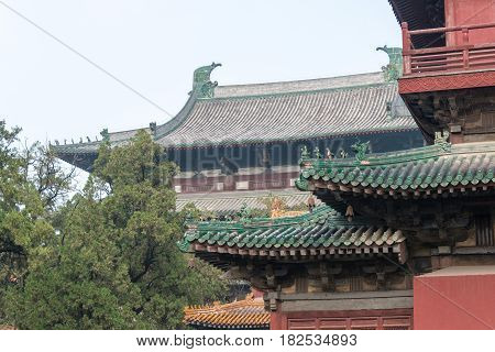 Hebei, China - Oct 23 2015: Longxing Temple. A Famous Historic Site In Zhengding, Hebei, China.