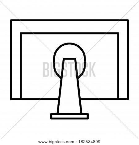monitor computer desktop icon vector illustration design