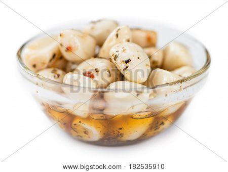 Garlic (preserved) (isolated On White)