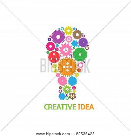 Creative idea symbol. Colorful lamp, abstract idea symbol for start up