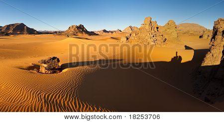 Akakus (acacus) Mountains, Sahara, Libya At Sunrise